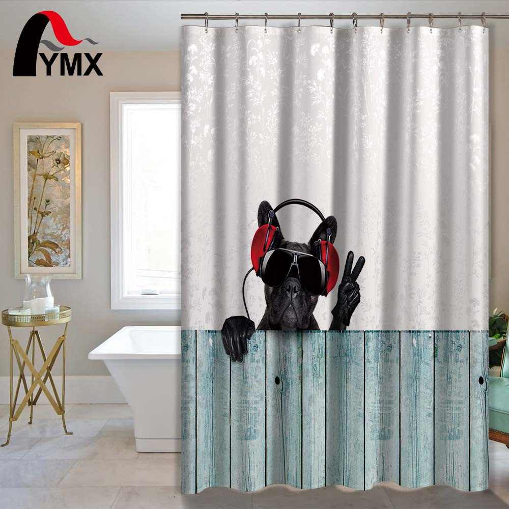 Polyester Waterproof Shower Curtain Bathroom Curtain