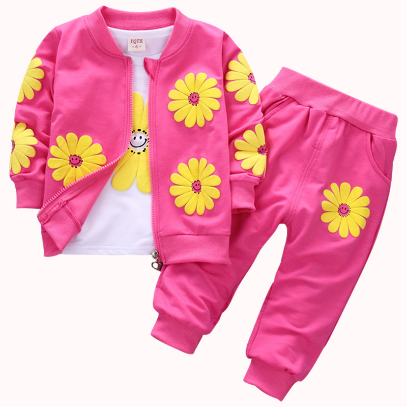 1-4years Boy Clothing Sets 2018 Leisure Sportswear Girl Clothes Children Striped Letter Spring Set Cotton Unisex Clothes