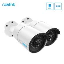 Reolink poe ipカメラ5MP屋外sdカードスロットナイトビジョンsdカードスロットマイクmotion検出、リモートアクセスRLC 410 2パック