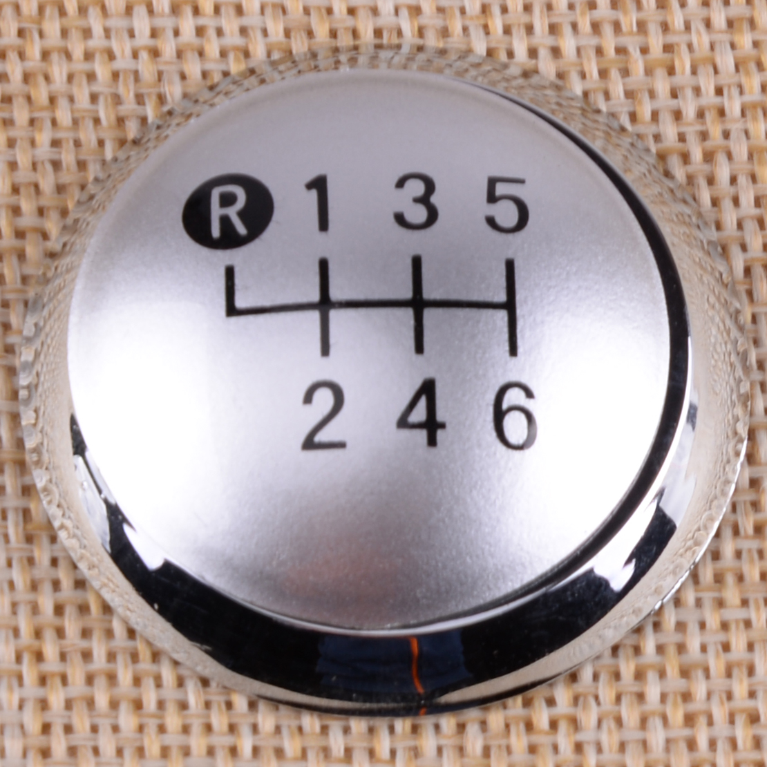 CITALL 6 Speed Chrome Car Gear Shift Stick Knob Cap Cover Decoration Fit for <font><b>Toyota</b></font> <font><b>Auris</b></font> 2007 <font><b>2008</b></font> 2009 Accessories image