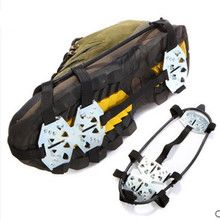 Outdoor slip 18 tooth portable lightweight crampons snow shoes ice cleats
