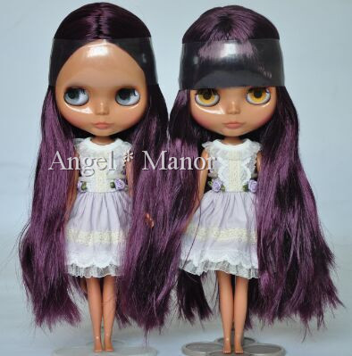 Free shipping ,Nude Blyth Doll,Deep Purple hair,Deepskin, big eye doll,Fashion doll Suitable For DIY Change BJD,For Girl's Gift free shipping nude blyth doll black4 hair big eye doll for girl s gift pjb004