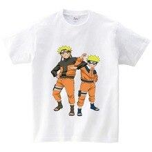 Children Naruto cartoon Funny T-shirt Kids japan Anime T shirt Boys/Girls Summer tops black casual tee kids baby Clothes  NN