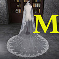 3 Meter White Ivory Cathedral Wedding Veils 300*300cm Special Appliques Edge Bridal Veil Wedding Accessories Bride Wedding Veil