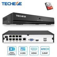 Techege 4CH 8CH Full HD 5MP 4MP PoE NVR все-в-одном сети видео Регистраторы для ip-камеры с питанием по PoE P2P XMeye CCTV Системы