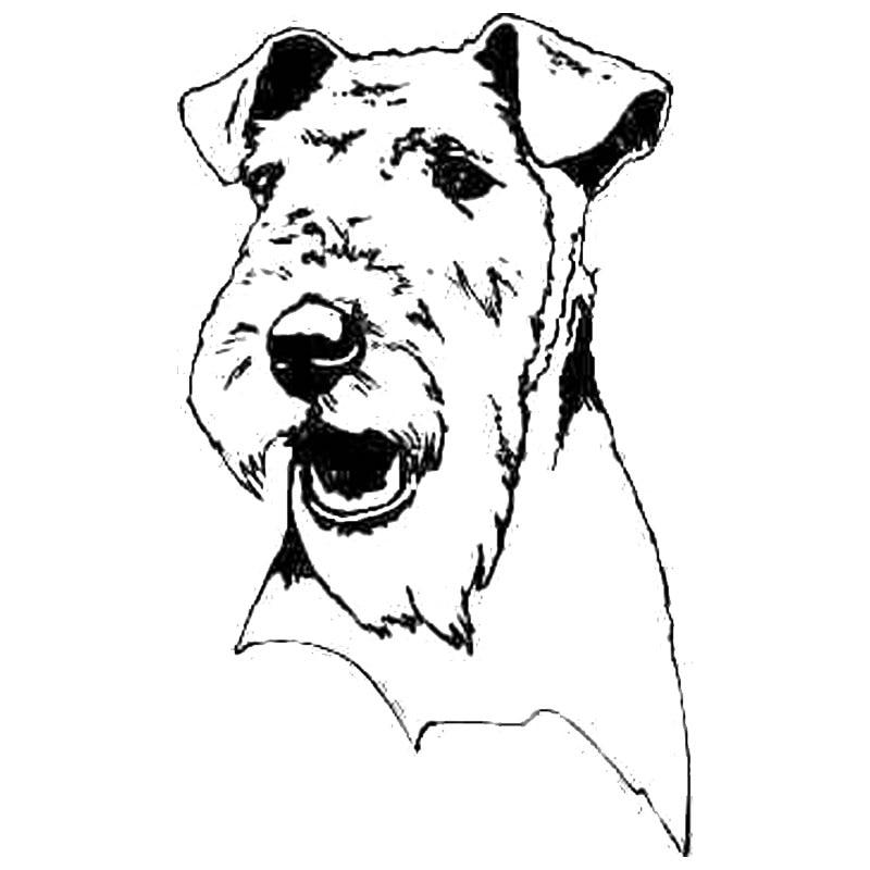 8.6*14CM Terrier Dog Car Stickers Cute Waterproof Vinyl Decal Car Styling Bumper Accessories Black/Silver S1-0550