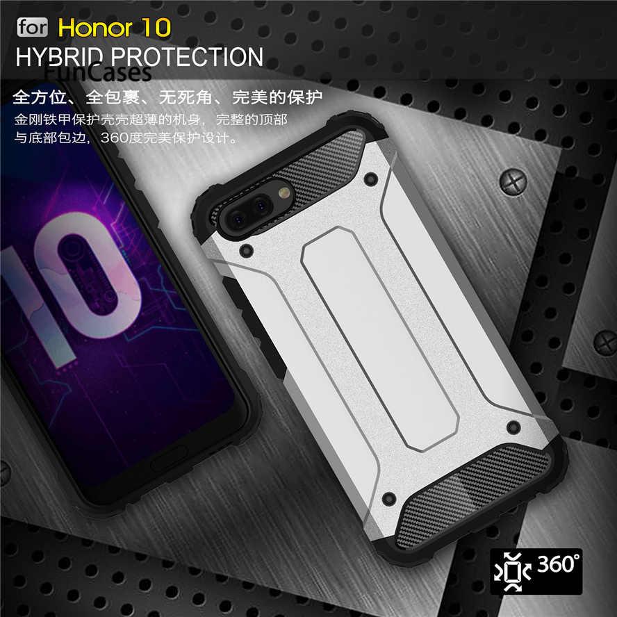 Per Huawei honor 10 Custodia di Protezione Slim Armatura di Caso Per per Huawei honor 10 Dura Ibrida Della Copertura del PC Fundas Su honor 10 borse