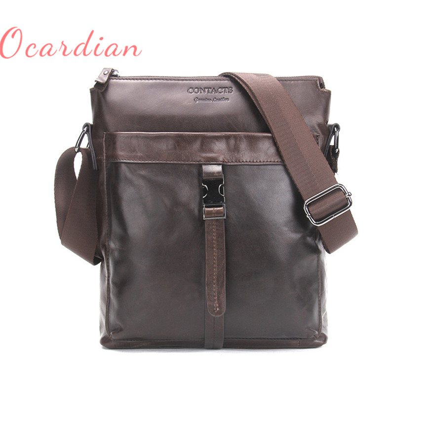 OCARDIAN bolsos mujer MB069 Cow Leather Men BagCasual Business Mens Messenger Bag Coffee Made in China Casual #30 2017 Gift paul kossof business franchising in china