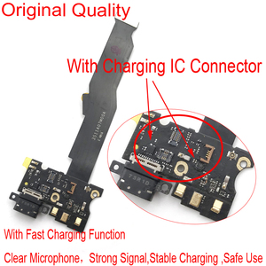 Original For Xiaomi Mi5s Mi 5S Micro USB Charging Charger Port Dock Connector Flex Cable with Microphone Vibrator Board Module(China)