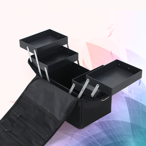Image 4 - Maleta profesional para caja de maquillaje, bolsa de maquillaje grande con cremallera, organizador, estuche de almacenamiento, neceser, estuche de belleza