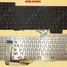 Оригинальная клавиатура RU для ASUS ROG 751J G751 G751JY G751JT G751JM русская клавиатура 0KNB0-E601RU00 ASM14C33SUJ442 зеленые слова RU