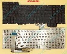 Originele RU Toetsenbord voor ASUS ROG 751J G751 G751JY G751JT G751JM toetsenbord Russische 0KNB0 E601RU00 ASM14C33SUJ442 Groene RU Woorden