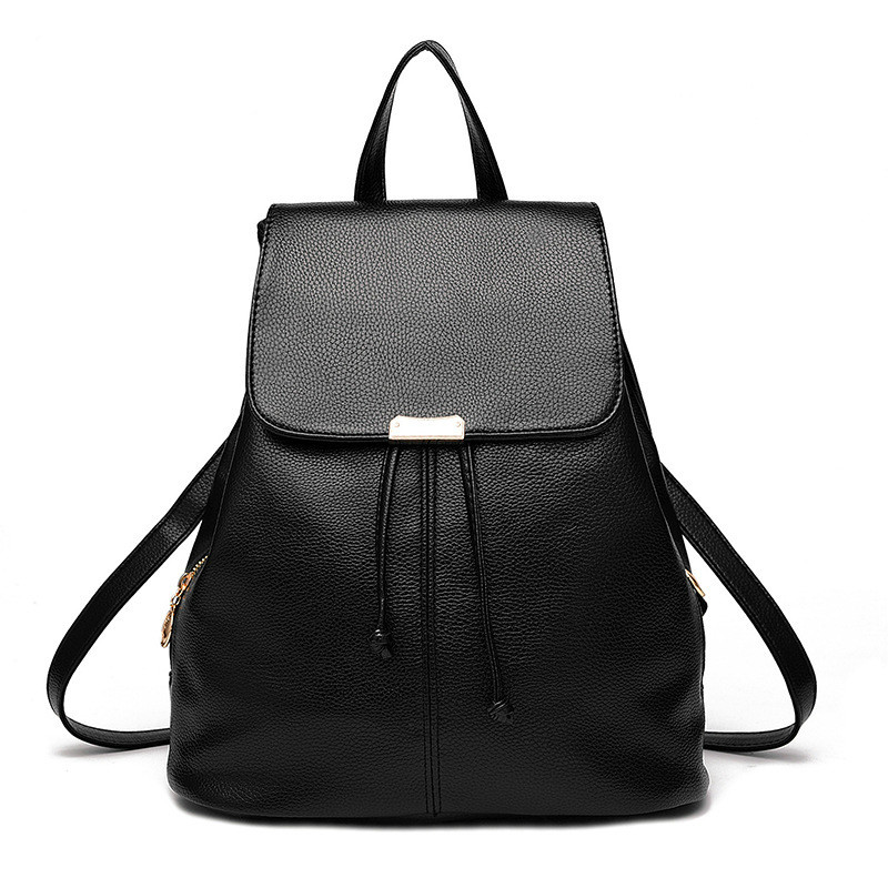 Women Backpack High Quality PU Leather Mochila Escolar School Bags For Teenagers Girls Top-handle Backpacks Herald Fashion BB109 drawstring pu leather backpack small school women bag top handle lock girl backpack new arrivals herald fashion mochila feminina