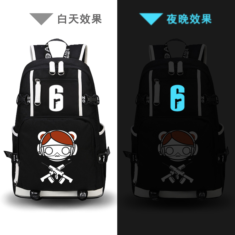 Tom Clancy Rainbow Six Siege Game Men Backpack Oxford Laptop Backpack Canvas School Bags Travel Rugzak Military Bagpack