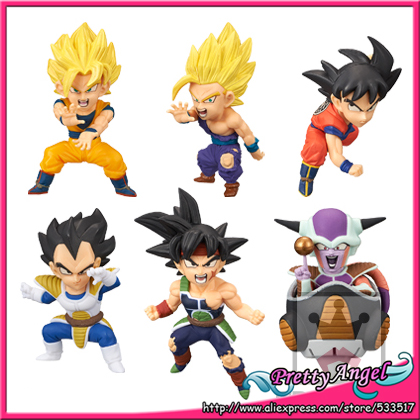 Japon animé Original BANPRESTO monde à collectionner Figure/WCF bataille de SAIYANS Vol.1 Dragon Ball Z jouet-ensemble complet de 6 pièces