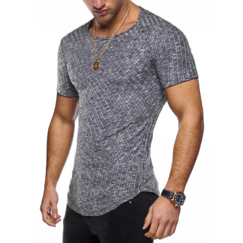 Round Neck Fitted T Shirt