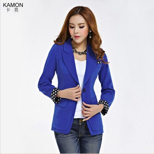 6ae7587b2d KAMON Fashion Women Office Wear Blazer Feminino 2015 New Slim Casual Suit  Jacket Women Dots Single