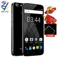 Oukitel U22 смартфон 3 г Android 7.0 мобильный телефон MTK6850A 2 г + 16 г отпечатков пальцев ID Quad Core 5.5 HD 2700 мАч 8.0MP сотовый телефон
