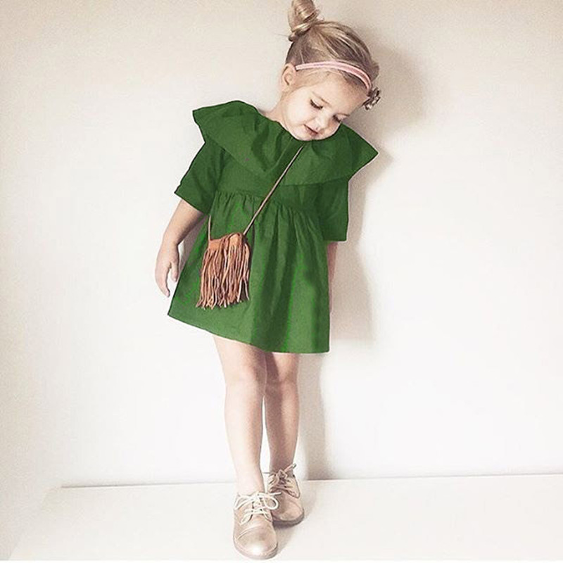 Подробнее о Fashion Summer Toddler Girl Dress Princess Girls Clothes Children Dresses For Kids Tops Clothing Costume Lotus Collar Robe Fille robe fille 8 ans baby girl dress children clothing party casual princess dress girl for girls clothes kis dresses summer 2017