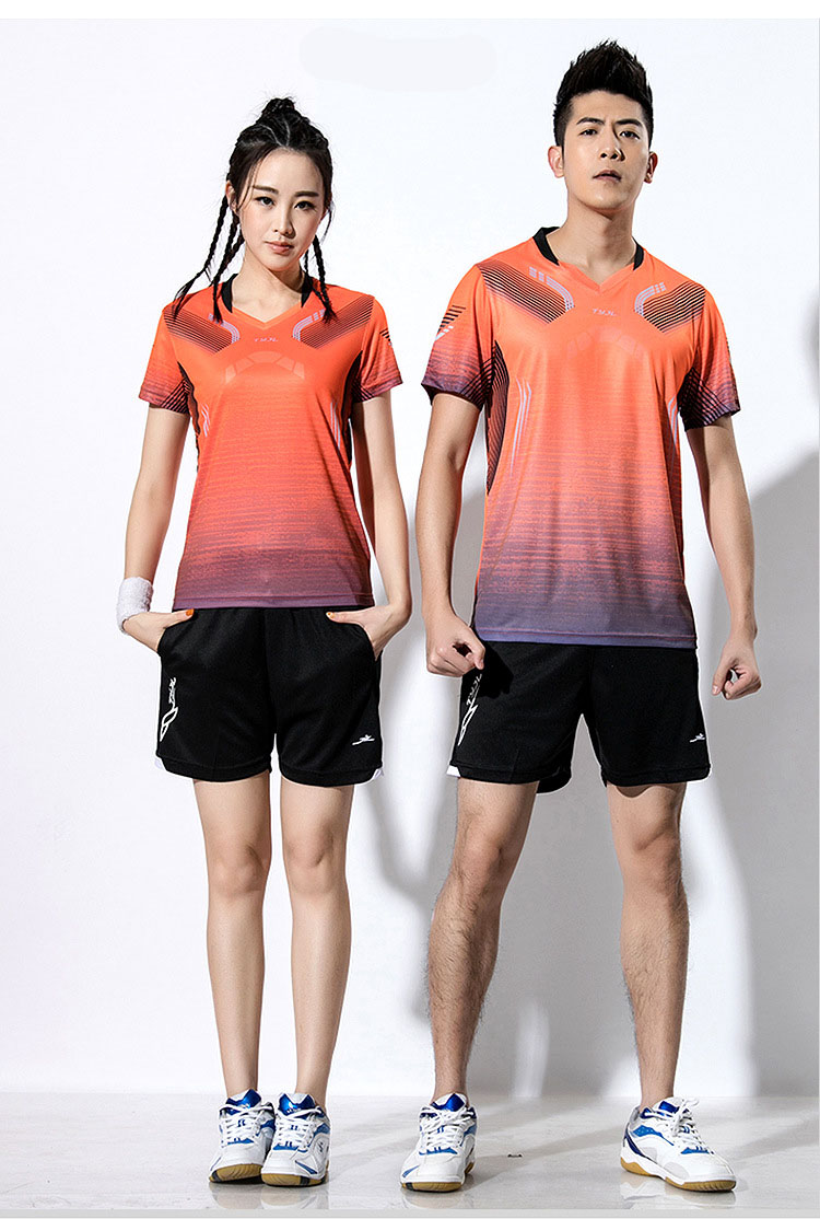 2018 Women Tennis T Shirts , Men Badminton T-shirts , Tennis Shorts Suit ,Cool Ping Pong T Shirt , tennis table clothes Uniforms