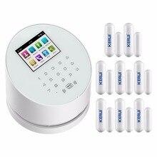 Kerui w2 wifi gsm pstn trzy-w-jednym sucerity domu system alarmowy + 8 czujniki drzwi otwarte przypomnieć