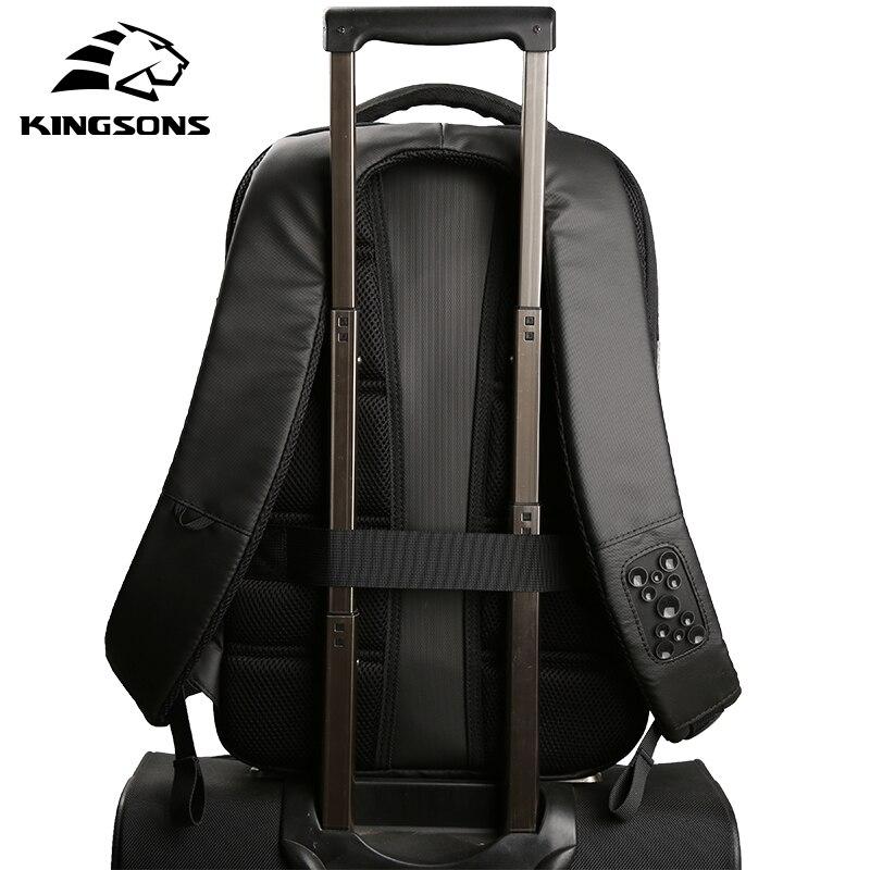 4d25428c26 Kingsons 2018 New Backpack Male Best Travel City Business Men Backpack  Mochila Bagpack Pack Design Anti Theft Work Laptop Bag-in Backpacks from  Luggage ...