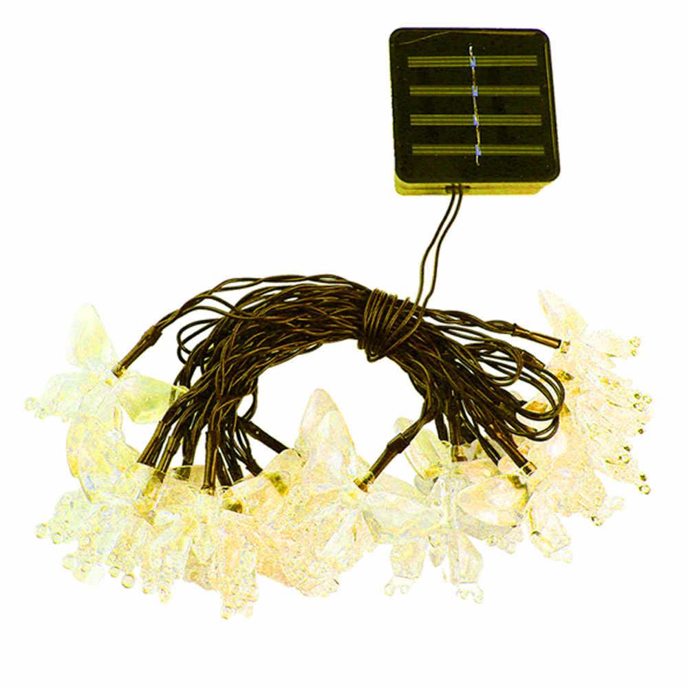 Свадебные украшения 30 шт. светодиодный светильник s вечерние светящиеся светильник s поставки Бабочка Солнечный Рождественский декоративный светильник