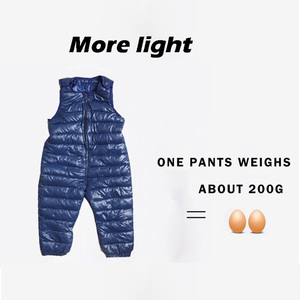 Image 3 - Children pants Down Cotton Thicken Warm Slim pants for girls trousers Comfortable baby boys pants winter waterproof kids Outwear