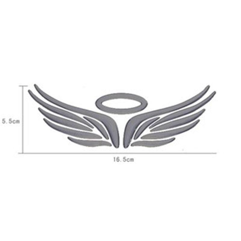 Hot 3d Angel Fairy Wings Car Styling Sticker Auto Truck Logo Emblem