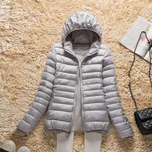 Image 4 - Новинка 2019 года; сезон осень зима; ультра легкий пуховик для женщин; ветрозащитные теплые женские легкие пуховые пальто; большие размеры; парки