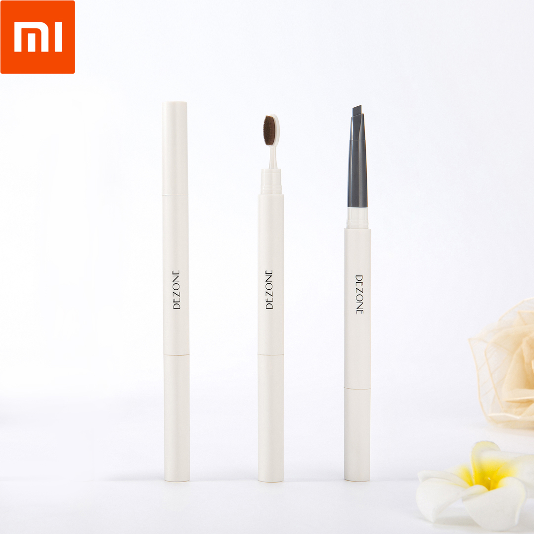 XiaoMi DEZONE Eyebrow Pencil 0.28g Three-dimensional shaping Eyebrow Pen Foundation brush head design Waterproof for woman 35