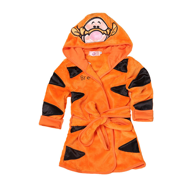 Cartoon Kids Robes Flannel Barn Boys Girls Robes Lovely Animal Hooded - Barnkläder - Foto 5