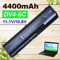 4400 мАч батарея для HP Compaq CQ41 CQ45 CQ70 DV6-1000 513775-001 516915-001 EV06055 HSTNN-C51C HSTNN-CB72 HSTNN-DB72 HSTNN-DB73