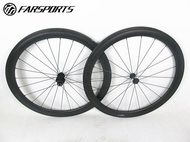 4dbc00dce9d Farsports carbon clincher wheelsets 50mm 25mm rims