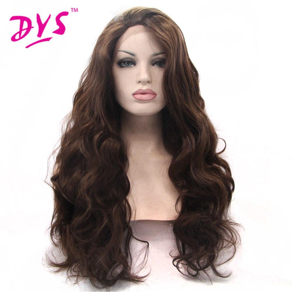 Deyngs բնական շագանակագույն գույնի - Սինթետիկ մազերը