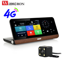 8 Touch 4G Sim Card GPS Navigation Android 5.0 Car DVR Camera WIFI Bluetooth FHD 1080P Dual Lens Rearview Camera Free Map