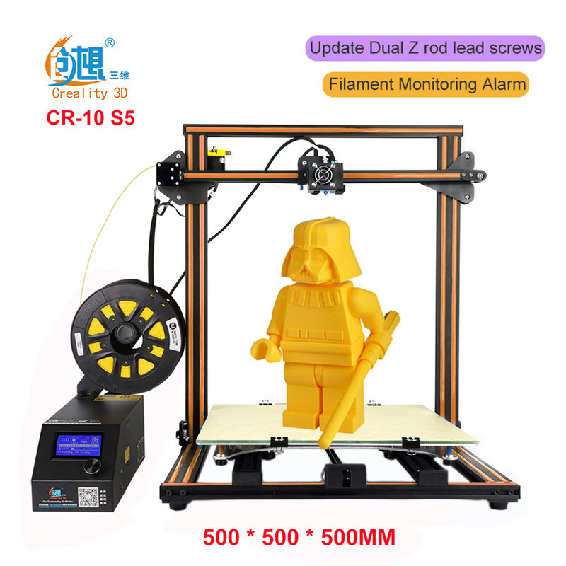 CREALITY 3D CR-10S Large Desktop 3D Printer Metal Frame Professional High Resolution Stable Single Extruder LCD Display Filament full metal frame heated bed 3d printer professional 3d color printer with 2gb sd card lcd 40m filament for free