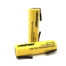 IMR 14500 (AA size) 700mah 15C 3.7V rechargeable Li-ion battery Flat top with nickel sheets talberg belchen 15c