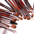 20 pcs Suave Pro Makeup Brushes Set Pó Foundation Sombra Delineador Lip Blush Cosméticos handed Brushes Set Ferramenta De Madeira