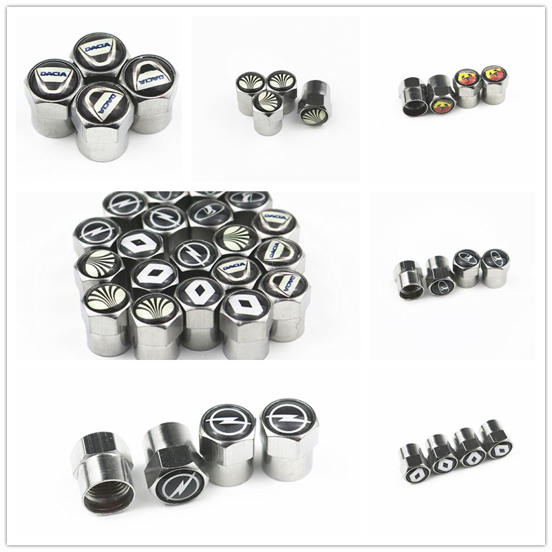 4pcs Car Tire Valve Caps Air Tyre Stems Cover For Bmw Benz Vw Audi Ford Kia Hyundai Nissan VW Toyota Mazda Volvo LexuS Porsche