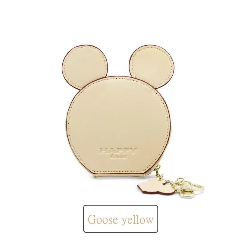 397 50 De Réductionnouveau Design De Mode Mickey Head Portefeuilles Femmes Portefeuilles Petit Dessin Animé Mignon Kawaii Porte Carte Porte Clés