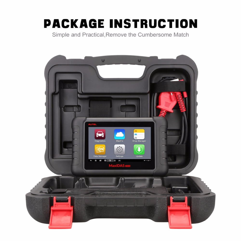 Image 5 - Autel MaxiDas DS808 Automotive Tools OBDII Diagnostic Tool Key Coding OBD2 Scanner Multi language as Autel MS906 ECU Coding OBD-in Car Diagnostic Cables & Connectors from Automobiles & Motorcycles