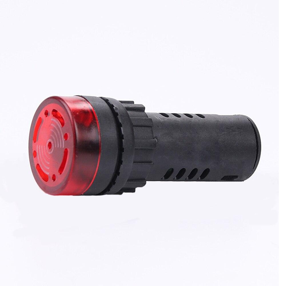 Flash DEL Alarme Indicateur Signal Lampe W Buzzer Bip 12//24//110//220V AD16-22SM