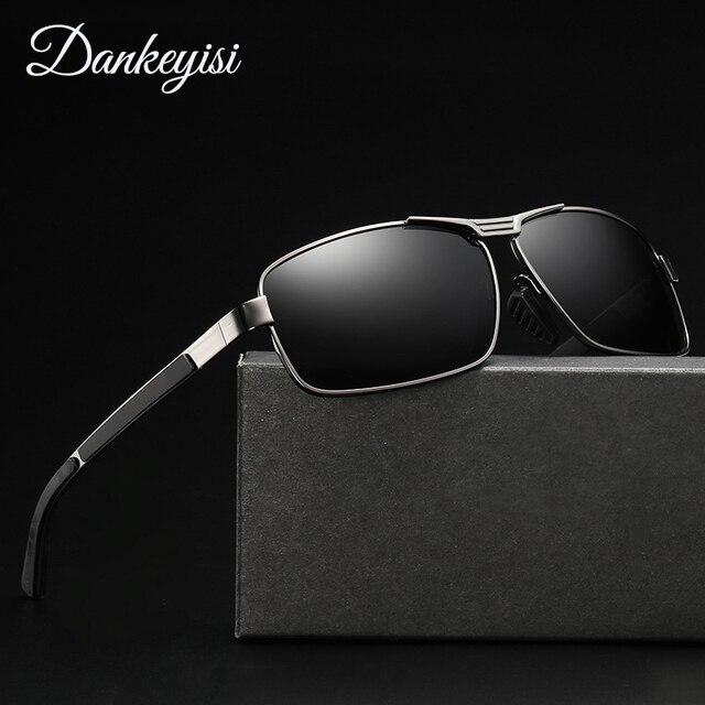 70e7ed8ea3 Dankeyisi de conducción Gafas de sol HD Polarized UV400 Gafas de sol oculos hombre  gafas cuadrado
