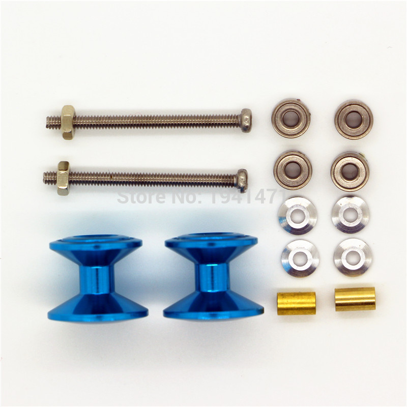 RFDTYGR  Double Aluminum Single-deck Rollers(13-12mm)For Self-made Parts Tamiya MINI 4WD Double Aluminum Rollers 2Sets/lot D023 Квадрокоптер