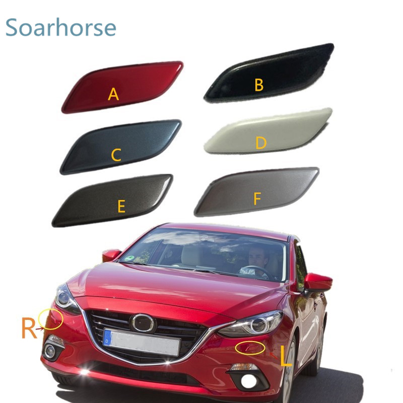 Front Bumper Towing Hook Cover Cap Right BHN1-50-101 For Mazda 3 AXELA 2014-2017