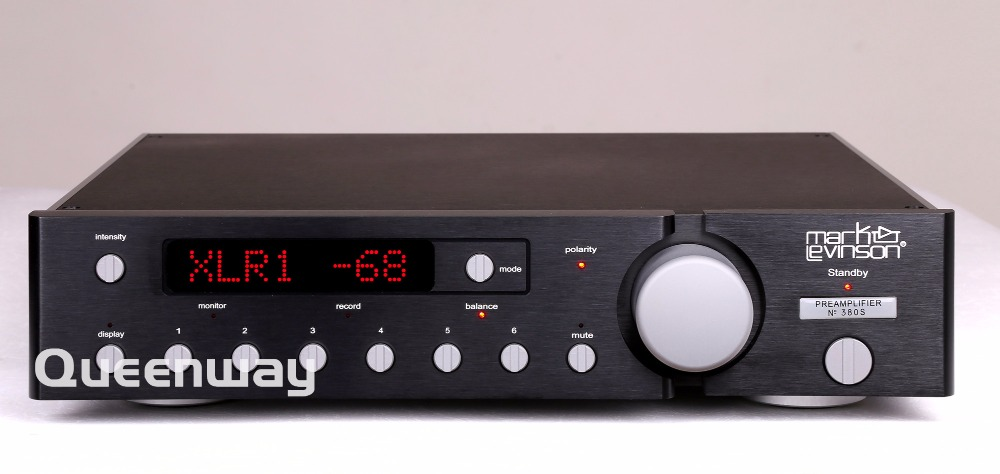 M-006 Study Mark LEVINSO ML380s MK2 Preamplifier Pre AMP Preamp Pre-amplifier Pre Amplifier Real XLR Output music hall luxury fully balanced pre amp hifi preamplifier xlr input remote control led refer to ml380s