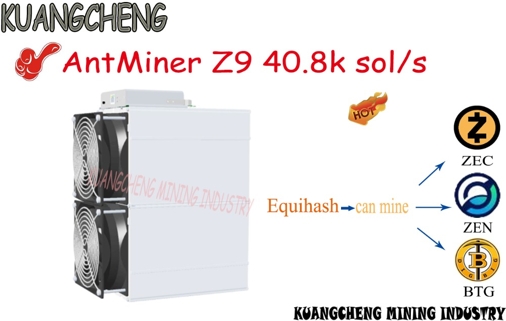 Velho 90% novo AntMiner Z9 42k sol/s zec zen btg bitmain mineiro btc máquina de Mineração Equihash Z9 melhor do que o innosilicon A9 Z9 mini