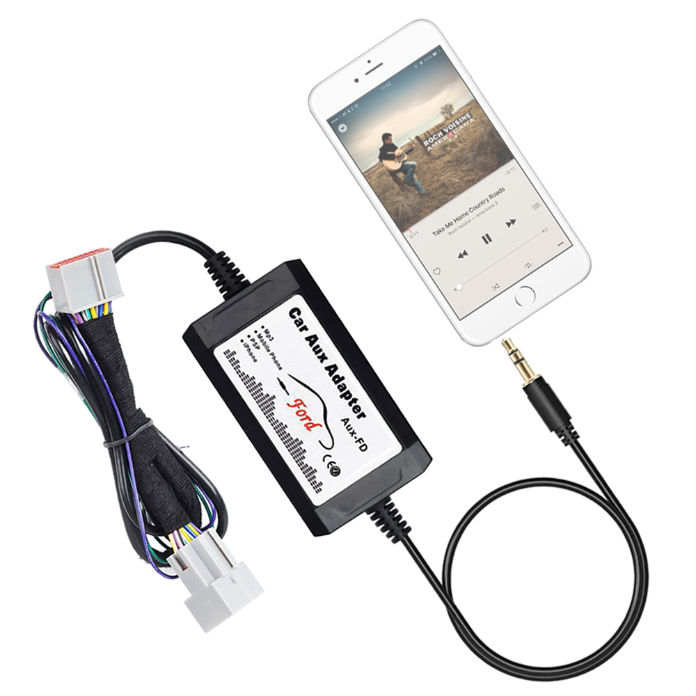 Car Stereo Aux Adapter Auxiliary Input Mp3 Interface For Ford F 150 F150 Radio Wiring Harness 2004 2008 Fits Oem Factory In Mp4 Mp5 Players From Automobiles