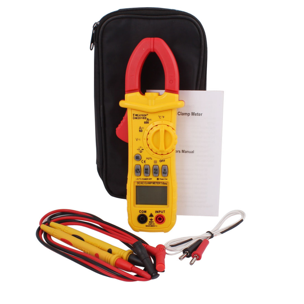 DMiotech AC/DC LCD Digital Clip Clamp Meter Tester OHM Amp Volt Testing AC/DC Voltage AC Current Diode Continuity Circuit
